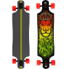 Santa Cruz Lion God Drop Thru Longboard Complete