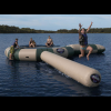 Rave Aqua Jump Northwoods Water Trampoline 15 W/ Launch And Log