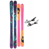 K2 Revival Griffon Schizofrantic Skis W/ Marker Griffon Schizofrantic Bindings Black/blue/purple