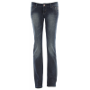 Planet Earth Skinny Cut Stone Wash Jean Medium Indigo