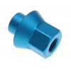 Eastern 3/8 W/ 14mm Long Tip Axel Nuts Matte Hot Blue