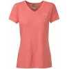 The North Face Rdt V-neck T-shirt Fire Brick Red Heather
