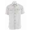 Planet Earth Parker Camp S/s Shirt Natural White