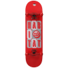 Habitat Headline Stacked Lg Skateboard Complete Black/red 8.1in