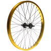 Framed Team Front Bmx Wheel Yellow 3/8in