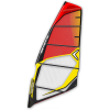 Severne Gator Windsurf Sail Red/yellow 4.7m