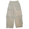 White Sierra Trail Convertible Pants Stone