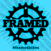 Framed Slap Sticker Blue Gear 3 X 3in