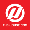 House Slap Sticker Red/white 3 X 3in