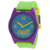 Neff Daily Helvetica Watch Purple/blue/green