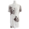 Lole Estella Tunic Dress Floral Mosaique Black