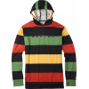Burton Midweight Pullover Hoodie Baselayer Top Pop Stripe Rasta