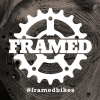 Framed Slap Sticker Dark Wood 3x3in