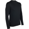 Icebreaker Anatomica L/s Crewe Baselayer Top Black/monsoon