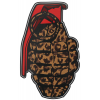 Grenade Patterns Sticker Leopard 8.5in