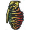 Grenade Patterns Sticker Rasta Tiger 8.5in