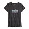 Patagonia Linear Fractures Cotton/poly V-neck T-shirt