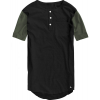 Burton Jimmy Henley Pocket T-shirt Heather True Black/heather Olive