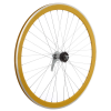Framed Deep V Rear Bike Wheel Yellow 700c