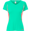 The North Face Reflex V-neck Shirt Billiard Green/fiery Coral