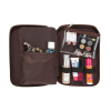 Deluxe Croc Leather Cosmetic Organizer Case