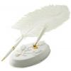 White Wedding Feather Pen