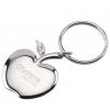 Apple of My Eye Silver Keychain