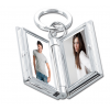 Engraved Silver Picture Frame Keychain