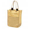 Double Wine Bottle Cotton Canvas Tote Bag