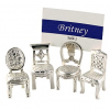 Bridal Chairs Pewter Placecard Holder
