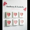 Magnet Heart Table Seating Photo Frame (Set of 3)
