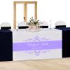 Royal Elegance Custom Printed Wedding Table Runner