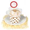 Chic Polka Dot Rhinestones Organza Cupcake Cup Bath Salts Favor