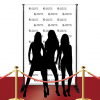 Custom Red Carpet Wedding Bells Banner
