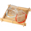 Clear Asian Takeout Box with Ribbon