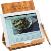 Tablet/Recipe Book Bamboo Stand with Ballpoint Stylus