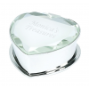 Silver Crystal Heart Jewelry Box