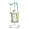 White Wedding Table Candle Lanterns - Set of 2
