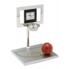 Personalized Silver Basketball Court Clock