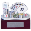Vegas Championship Poker Cards & Chips Clock Award