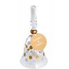 Polka Dot Hand Painted Glass Wedding Bell