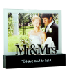 """5"""" x 7"""" Mr. and Mrs. Wedding Expression Frame"""