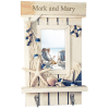 Sandy Beach  Picture Frame with Couple Key Holders