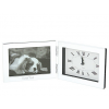 """3"""" x 5"""" Personalized Silver Picture Frame Clock"""