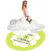 White Garden Floral Dance Floor Decal