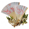 Bamboo Beach Coral Wedding Fan