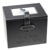 "4"" x 6"" Black Leather Wedding Photo Album Box"