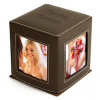 4 Sided Brown Family Photo Frame Office Cube