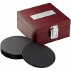 Leather Coasters in Wooden Box Set