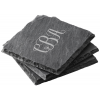 Solid As A Rock Natural Granite Coasters (Set of 4)